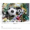 Colorful Puzzle Football wall murals for wall | Homewallmurals.co.uk
